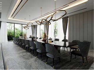 THIẾT KẾ NỘI THẤT BIỆT THỰ ĐÔI Ở BÌNH DƯƠNG – SANG TRỌNG VÀ ĐẲNG CẤP Phòng ăn phong cách kinh điển bởi Neo Classic Interior Design Kinh điển