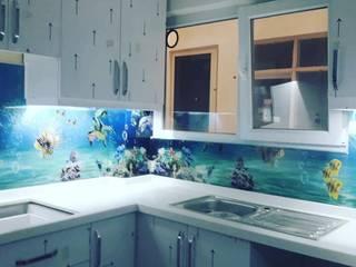 Cam mutfak arası panel montajı Modern Mutfak Yıldırım Dekor Modern