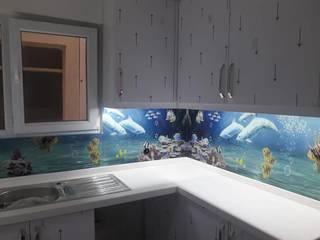 Cam mutfak arası panel montajı Yıldırım Dekor Modern