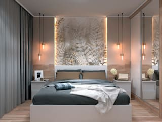 Minimalistyczna sypialnia od AnARCHI Minimalistyczny