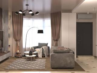Minimalistyczny salon od AnARCHI Minimalistyczny