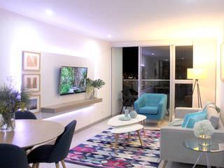 Vivienda en Manizales, Colombia (2019) Salas modernas de Kalos Creative Studio Moderno