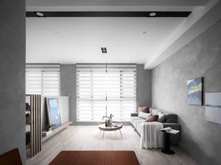 モダンデザインの リビング の 築室室內設計 モダン