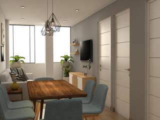 Diseño Sala Comedor - Surco Comedores de estilo moderno de Katherine Quijano - Arquitectura Moderno