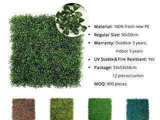 Artificial Hedges Plants SUNWING GREEN Interior landscaping Plastic Green