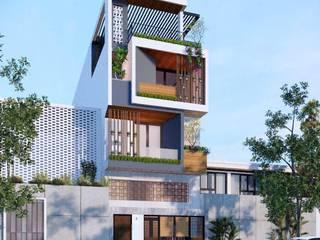 Nhà phố Đà Nẵng - Mr. Nhân bởi Công ty TNHH Xây dựng & Thương mại Vũ Hưng Thịnh