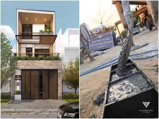 Nhà phố Đà Nẵng – Mr Hanh & Mrs Linh bởi Công ty TNHH Xây dựng & Thương mại Vũ Hưng Thịnh