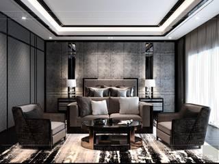 MODERN APARTMENT Phòng khách phong cách Bắc Âu bởi Thiết kế nội thất ICONINTERIOR Bắc Âu