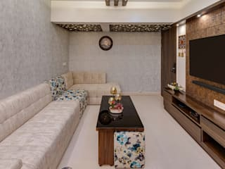 3BHK Smart Home Design to Delibvery by SPACEMAX in 90 days Modern living room by Spacemax Indoor Solutions Modern