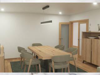 Remodelação e decoração de apartamento por Madeira Negra Escandinavo