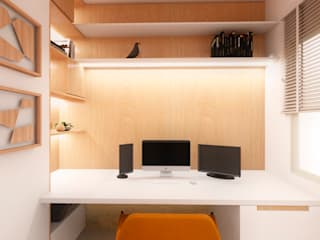 Mirá Arquitetura Modern study/office Wood White