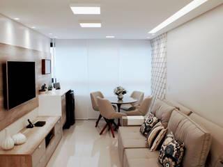 Apartamento Salas de estar modernas por Theresa Leite Moderno