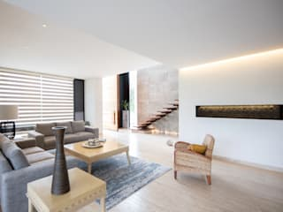 Modern living room by LUMINICA Iluminación Modern