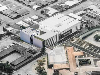 Proyecto de oficinas y salas de abordaje en terminal de transporte de Cóncavas Ingenieros y Arquitectos Moderno