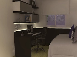 Home Office / Quarto de Hóspedes compacto Escritórios modernos por CrieAtive Arqdesign Moderno