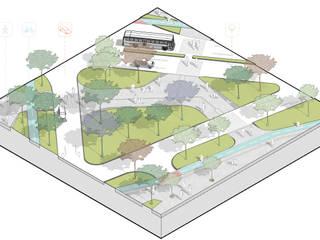 Espacio público en Medellín de Cóncavas Ingenieros y Arquitectos Minimalista
