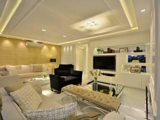 Integraçao com exterior Salas de estar modernas por marli lima designer de interiores Moderno