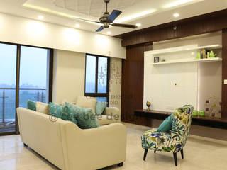 Contemporary Home Design in Kolkata Modern living room by Cee Bee Design Studio Modern