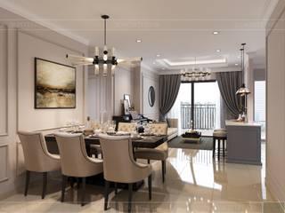 Chung Cư Golden Mansion - 119 Phổ Quang, Phường 09, Phú Nhuận Phòng ăn phong cách hiện đại bởi Thiết kế nội thất ICONINTERIOR Hiện đại