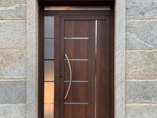 Indupanel pintu depan Aluminium/Seng Wood effect
