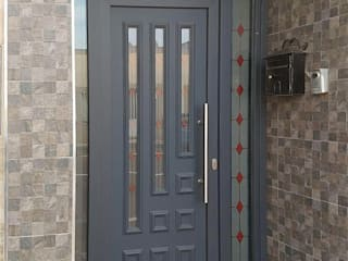 Indupanel pintu depan Aluminium/Seng Grey