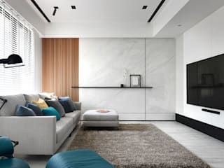 惠宇大聚G宅 根據 Ho.space design 和薪室內裝修設計有限公司 簡約風