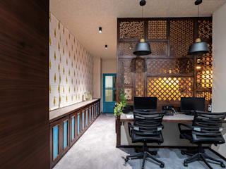 HTOI Office Interiors Eclectic style offices & stores by Ashoka Design Studio, Jaipur Eclectic
