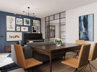 Квартира в современном стиле Гостиная в стиле модерн от Amalgama Interior Модерн