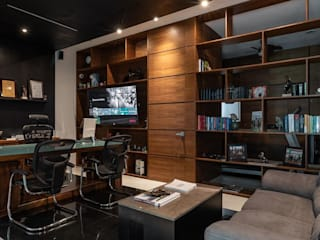 Modern Study Room and Home Office by LUMINICA Iluminación Modern