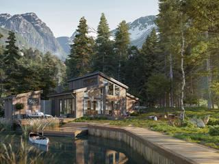 Komfortables Wochenendhaus in den Bergen Landhäuser von PerspektiveEins Landhaus