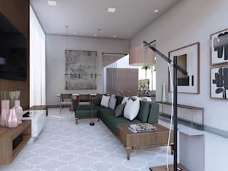 CASA MARTINS. Salas de estar modernas por TERRABENTO ARQUITETURA E INTERIORES Moderno