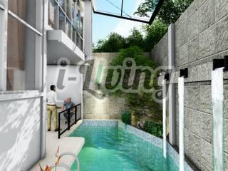 Arsitektur Untuk Rumah dengan Kolam Renang di Pekanbaru Oleh INTERIAU LIVING