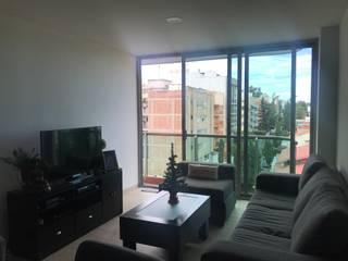 Departamento en Coyoacán , CDMX Antes y después Salones modernos de Home Reface ® By Natalia Jiménez Moderno