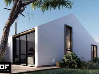 DOF Arquitectos Minimalistyczne domy Drewno Biały