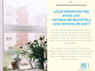 Diferencia entre Ventana de aluminio y Ventana de PVC de Goldglass Ventanas y Puertas Minimalista