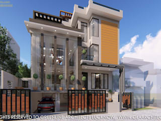 2000 Sqft House Design Modern houses by greenline architects Modern