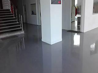 Galaxy Epoxy Modern corridor, hallway & stairs Reinforced concrete Grey