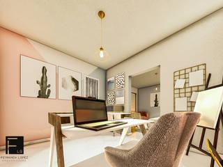 Fernanda López | Arquitectura Modern study/office Pink