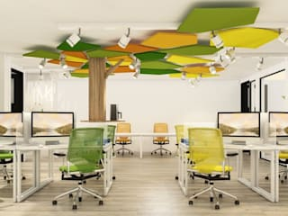 DULLITA 3D Design Modern Study Room and Home Office Yellow