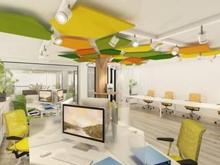 DULLITA 3D Design Modern Study Room and Home Office Orange