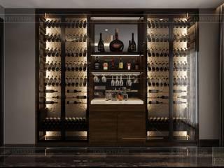 Bất ngờ trước diện mạo mới của nội thất căn hộ Belleza quận 7 Hầm rượu phong cách hiện đại bởi Thiết kế nội thất ICONINTERIOR Hiện đại