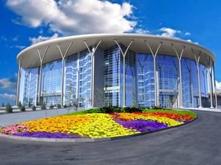 Correzione Acustica Barys Arena, Astana (Kazakistan) Stadi in stile industrial di Manifattura Maiano spa Industrial