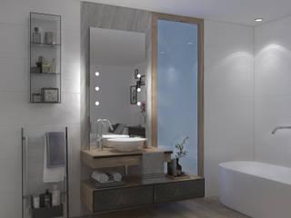 Baños de estilo moderno de Unica by Cantoni Moderno
