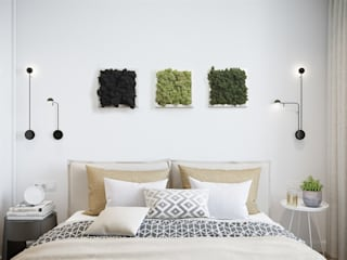 Solmayan Yosun Tablo Mint Green Moss silvanus dikey bahçeler