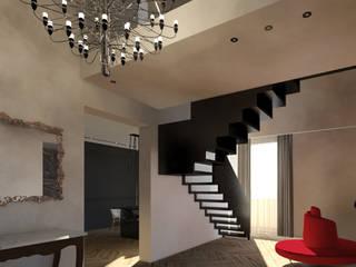 CASA_GA Luigi Smecca Architetto Ingresso, Corridoio & Scale in stile moderno