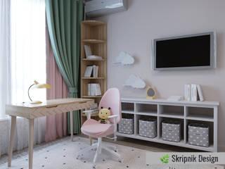 Детская комната для девочки подроста от SKRIPNIK DESIGN Скандинавский