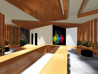 Ro Pinheiro Pasillos, vestíbulos y escaleras modernos