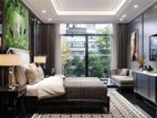 Mẫu thiết kế nội thất căn hộ Studio Masteri Millenium mang âm hưởng Á Đông Phòng ăn phong cách hiện đại bởi Thiết kế nội thất ICONINTERIOR Hiện đại