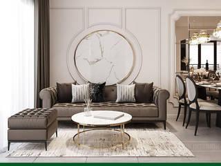 Mang sự thư thái vào ý tưởng thiết kế nội thất căn hộ Feliz En Vista bởi Thiết kế nội thất ICONINTERIOR Hiện đại