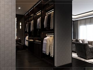 Mang sự thư thái vào ý tưởng thiết kế nội thất căn hộ Feliz En Vista Phòng thay đồ phong cách hiện đại bởi Thiết kế nội thất ICONINTERIOR Hiện đại